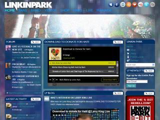 Linkin Park | Новый дизайн официального сайта